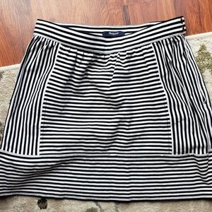 Madewell Black and White Stripped Skirt
